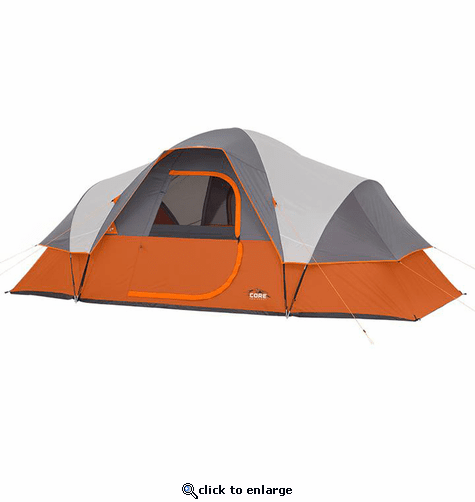 Core Equipment 9 Person Extended Dome Tent 16 x 9 ft