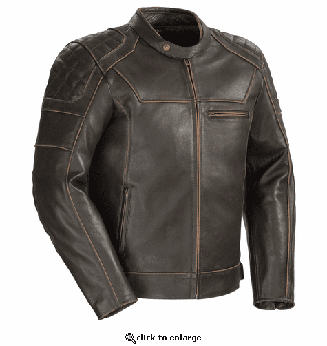 Cortech Dino Leather Jacket - Vintage Brown