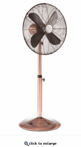 DecoBreeze Adjustable Height Floor Fan - Copper