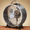 DecoBreeze Retro Metal Fan - Stainless