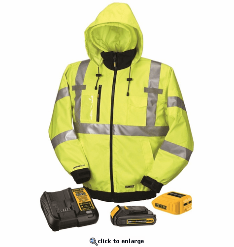 DeWalt 20V/12V MAX Class III High-Vis 3-in-1 Heated Jacket Kit with Battery Kit