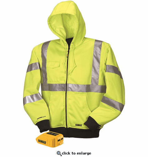 DeWalt 20V/12V MAX Class III High-Vis Heated Hoodie (Hoodie and Adaptor Only)