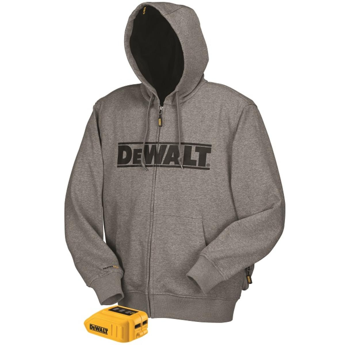 dbeca843b7 DeWalt 20V 12V MAX Heated Hoodie - Gray (Hoodie   Adapter Only) - The  Warming Store
