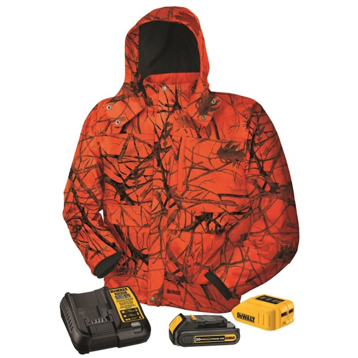 566bffa599 DeWalt 20V 12V MAX Lithium Ion TRUE TIMBER BLAZE Camo Heated Jacket Kit -  The Warming Store