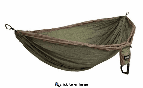 Eagles Nest Outfitters Double Deluxe Hammock - Khaki/Olive