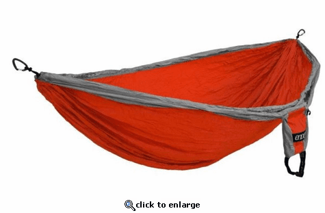 Eagles Nest Outfitters Double Deluxe Hammock - Orange/Grey