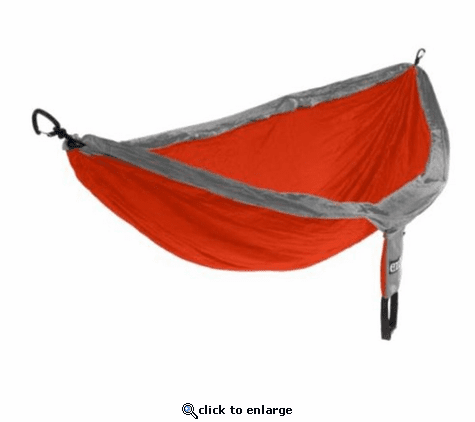 Eagles Nest Outfitters DoubleNest Hammock with Insect Shield Treatment - Orange/Grey