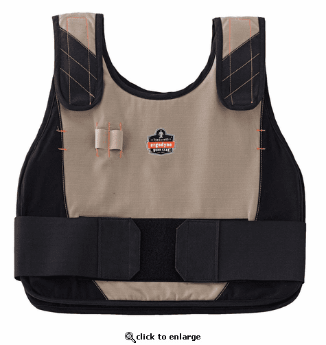 Ergodyne Chill-Its 6215 FR Phase Change Premium Cooling Vest - Khaki