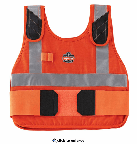 Ergodyne Chill-Its 6215 Phase Change Premium Cooling Vest - Hi-Viz Orange