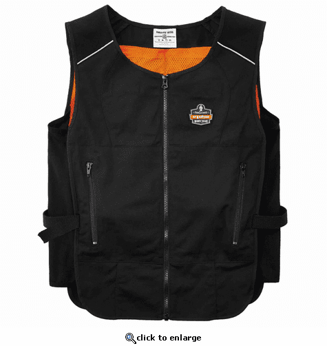 Ergodyne Chill-Its 6260 Lightweight Phase Change Cooling Vest with Packs - Black