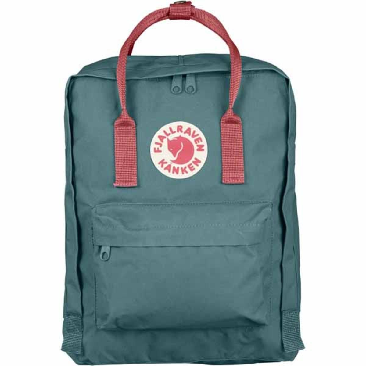 ffc1bae37 FjallRaven Kanken Backpack - Frost Green/Peach Pink - The Warming Store
