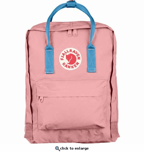 FjallRaven Kanken Backpack - Pink/Air Blue
