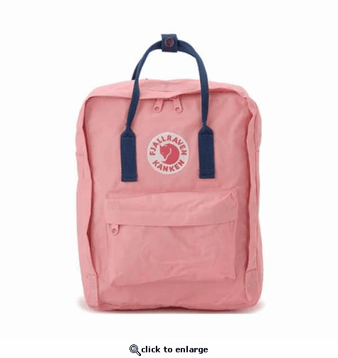 FjallRaven Kanken Backpack - Pink/Royal Blue