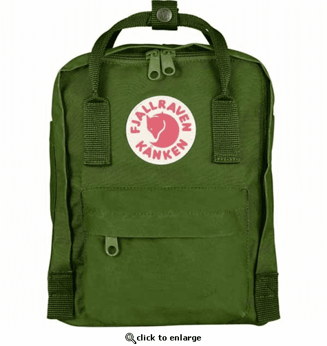 FjallRaven Kanken Mini Kids Backpack - Leaf-Green