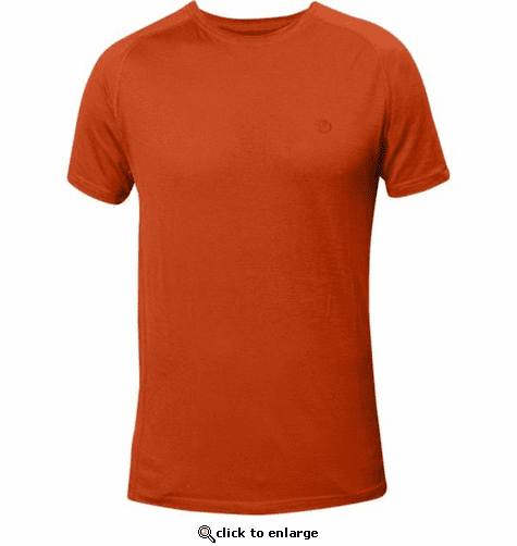 Fjallraven Men S Abisko Trail T Shirt Flame Orange The