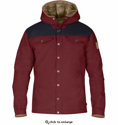 FjallRaven Men's Greenland No. 1 Down Jacket - Red Oak/Night Sky