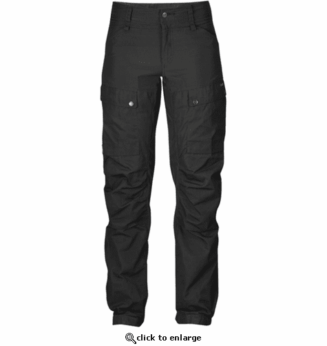 FjallRaven Women's Keb Trousers Regular - Black/Black
