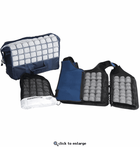 FlexiFreeze Personal Ice Vest Cooling Kit - Velcro Front
