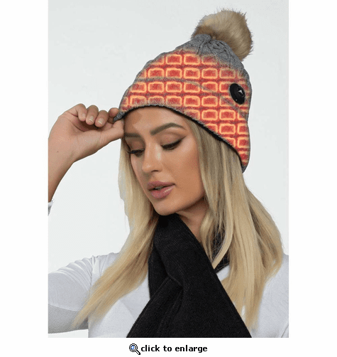 FNDN Heated Cable Knit Beanie