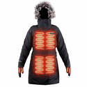FNDN Women's Heated Parka with Built-in Heated Gloves