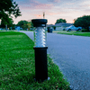 Gama Sonic Bollard Solar Light with EZ Anchor Set of 2 Black