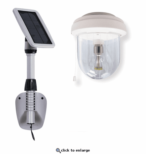Gama Sonic Light My Shed IV with GS Solar Light Bulb