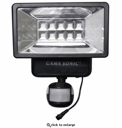 Gama Sonic solar Outdoor Security Light With Motion Sensors