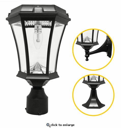 Gama Sonic Victorian Bulb 3 Mounting Options with GS Solar Light Bulb - Wall/Pier/3