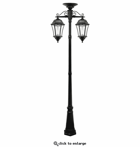 Gama Sonic Victorian Bulb Solar Lamp Post with Double Downward Lamps
