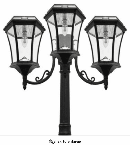 Gama Sonic Victorian Solar Lamp - Triple Lamps