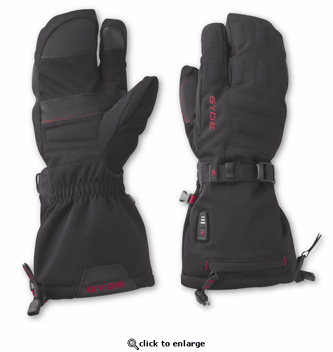 Gerbing Gyde 3-Finger Heated Mitts, Black - 7V Battery