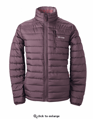 Gerbing Gyde Calor Heated Puffer Jacket, Raisin - 7V Battery