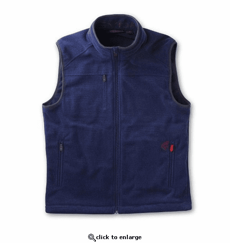 Gerbing Gyde Men's Thermite Heated Fleece Vest, Navy - 7V Battery