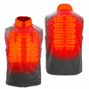 Gerbing Gyde Thermite Fleece Heated Vest for Men, Grey - 7V Battery