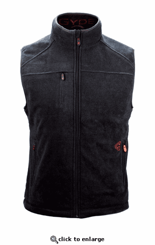 Gerbing Gyde Thermite Heated Fleece Vest, Black - 7V Battery