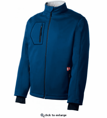 Gerbing Men's Heated Softshell Jacket, Blue - 7V Battery