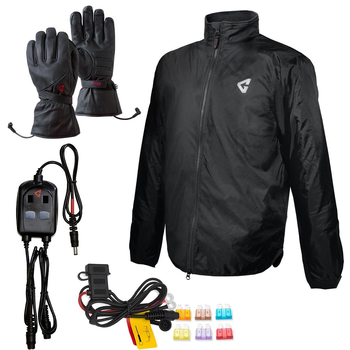 Battery Heated Clothing 7 Microwire Heat Zone 12V Motorcycle Protective Gear with Taffeta Lining Gerbing Heated Jacket Liner