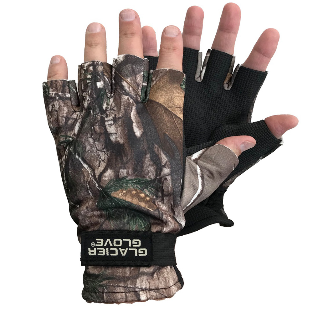Keep your hands warm while being undetected on your next hunting adventure with the Midweight Pro Hunter Gloves from Glacier Glove. These gloves feature fingerless design with windproof premium fleece. Features:  G-Tek 2mm Neoprene palm for durability Premium Windproof Fleece Back Fleece Fingerless Hunting Glove Fingerless Design RealTree Xtra  Specifications:  Width: 2.00 (in) Height: 2.00 (in) Depth: 2.00 (in)