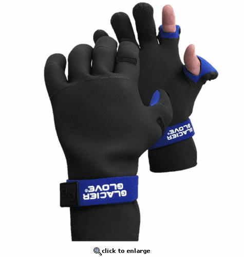 Glacier Glove Pro Angler Slit Finger Gloves - Black