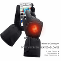 Global Vasion 3.7V Battery Heated Snow Gloves Cold Weather Touchscreen Gloves