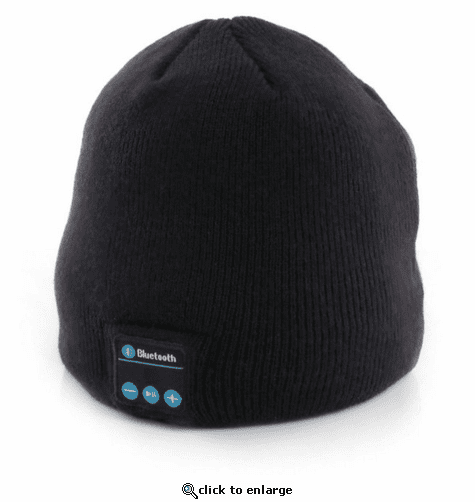 Glovii Bluetooth Knit Beanie with Wireless Microphone