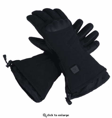 Glovii GS7 Battery Heated Leather Ski Gloves with Knuckleguard
