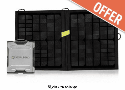 Goal Zero Sherpa 50 and  Nomad 13 Solar Kit