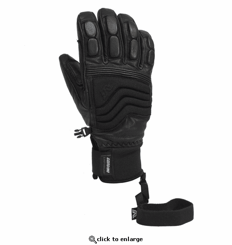 Gordini Men's Wrangell Solid Black Gloves