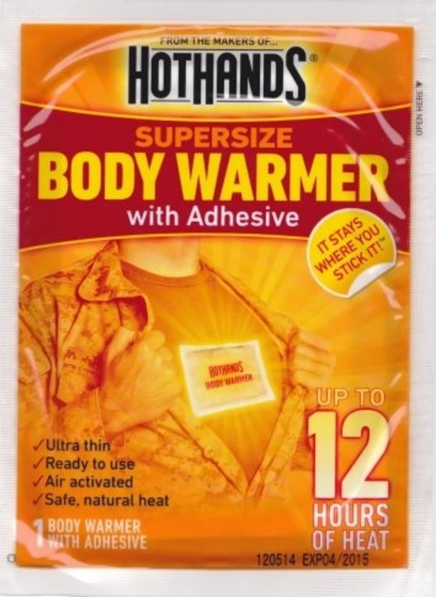 Grabber 12 Hour Body Warmers with Adhesive 3 Pack