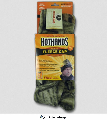 Hothands Heated Fleece Watch Cap - Mossy Oak