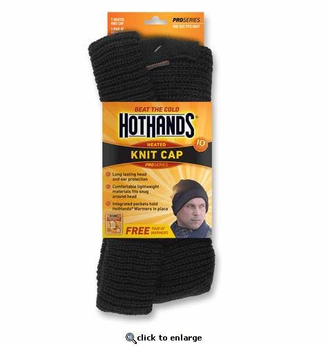 HotHands Heated Knit Cap - Black
