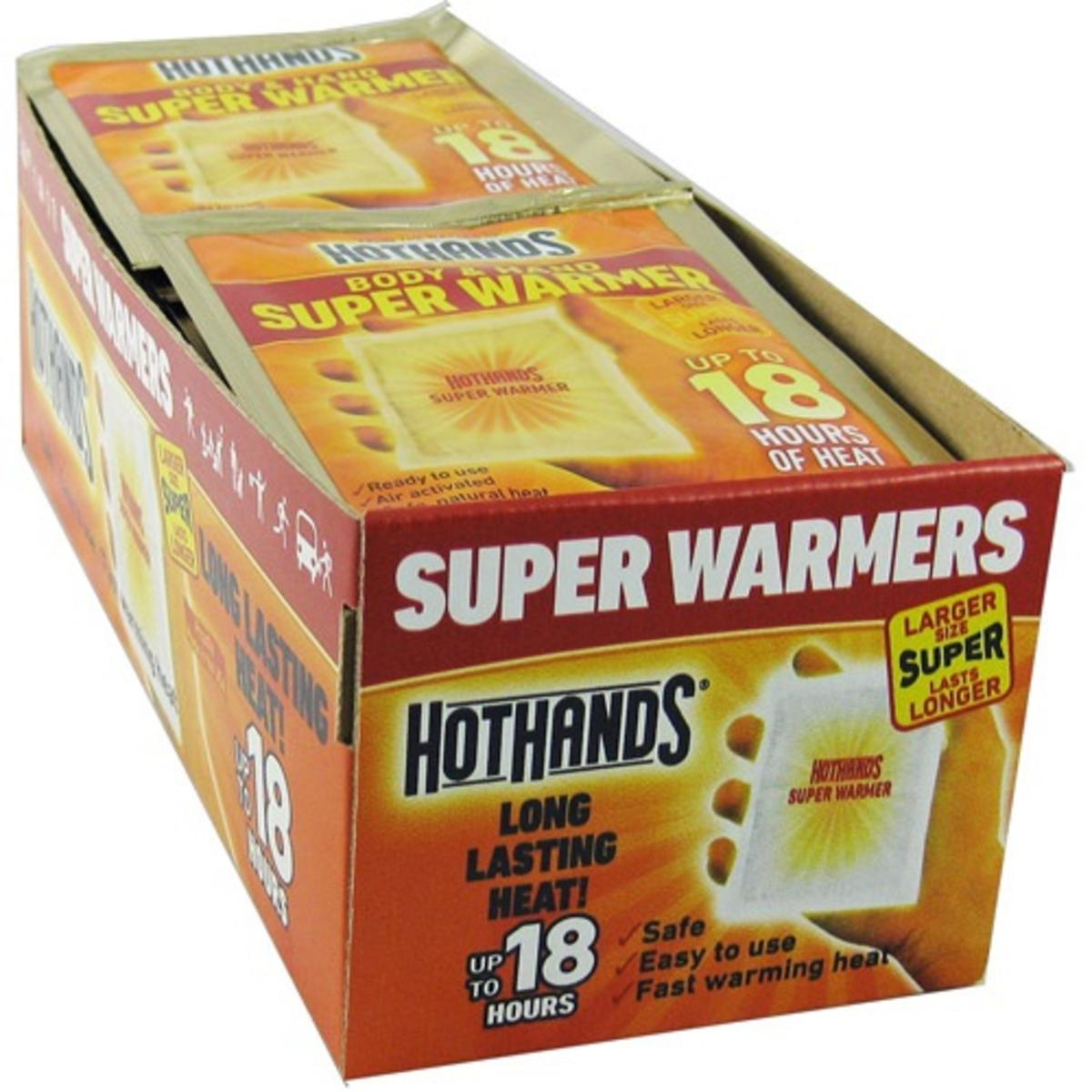 40 Pack Case HotHands Toasti Toes 8 Hour Toe Warmers