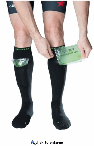 Ice Sox Compression Socks with Gel-Packs