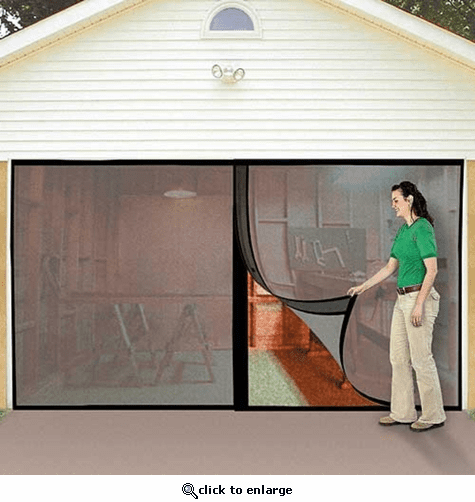 Jobar Double Garage Door Screen The Warming Store